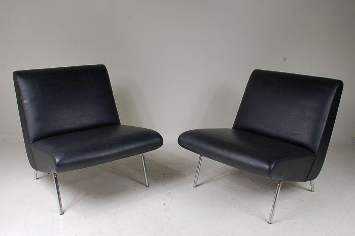 fauteuils par andr motte pour steiner set de 2 en vente sur pamono. Black Bedroom Furniture Sets. Home Design Ideas