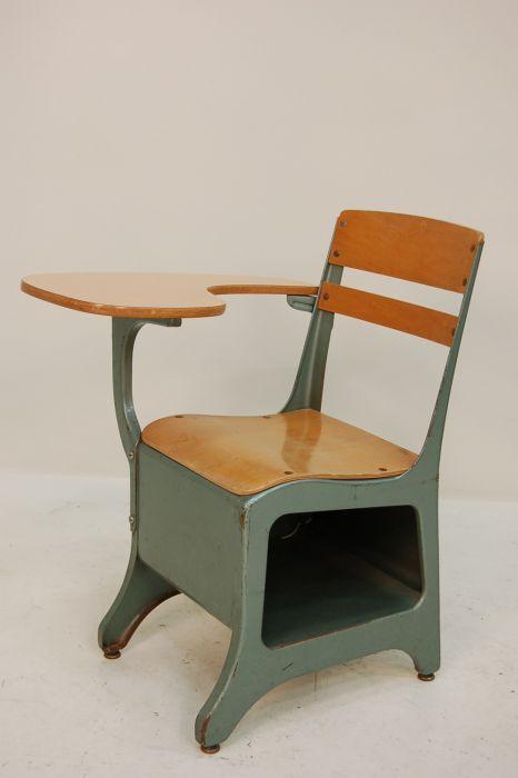 Industrial stuhl mit pult 1950er bei pamono kaufen for Stuhl industrial