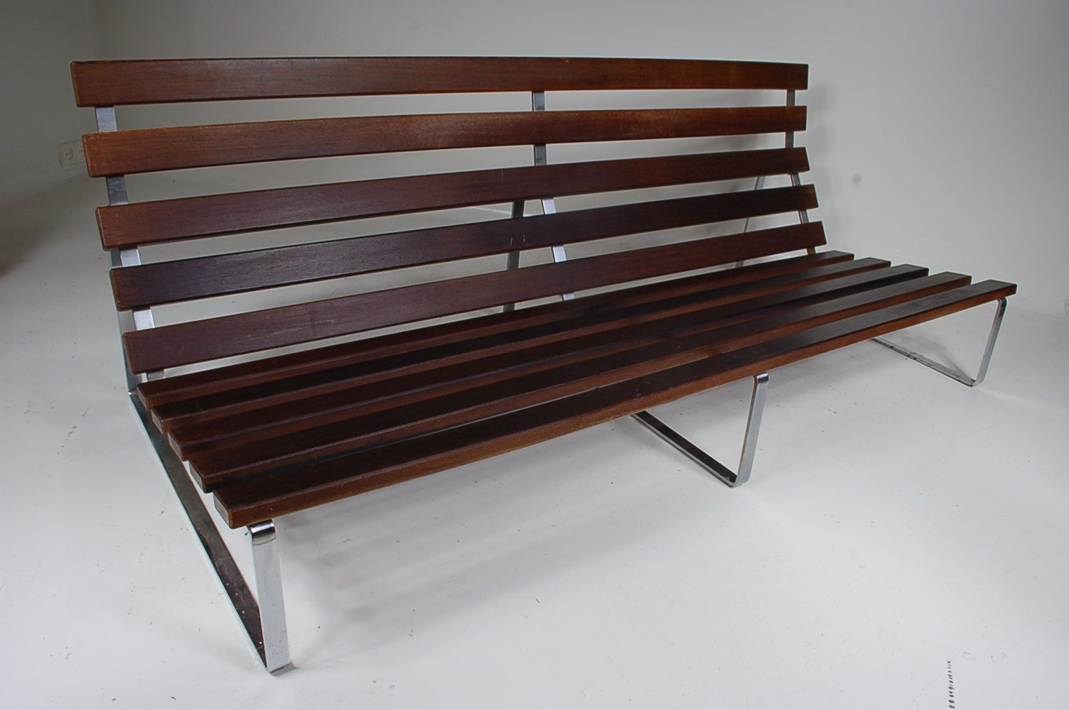 3 Seater Chrome Metal Bench By Kho Liang Ie For Artifort 1960s For Sale At Pamono