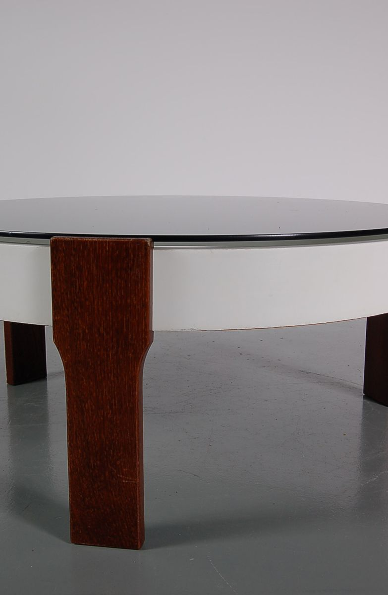 Weng and glass coffee table 1960s for sale at pamono - Table wenge ikea ...