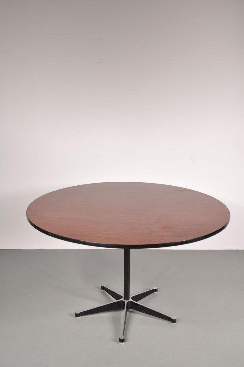 Esstisch Eames Style ~ Runder Esstisch von Eames für Herman Miller, 1960er bei Pamono kaufen