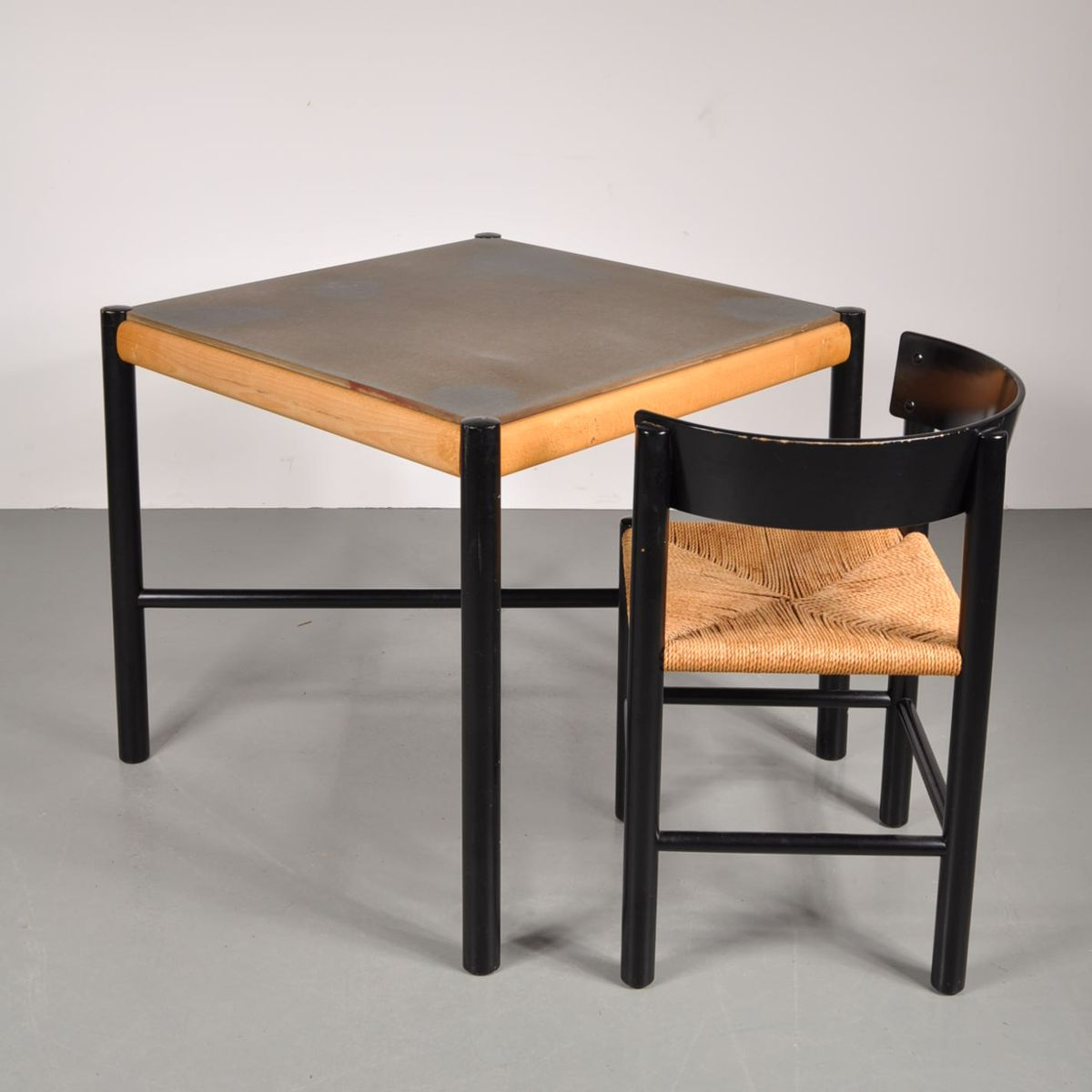 tisch und stuhl set von mogens lassen f r fritz hansen 1960er bei pamono kaufen. Black Bedroom Furniture Sets. Home Design Ideas