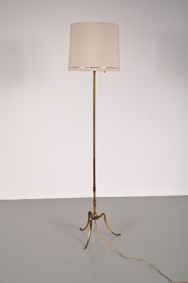 Vintage brass floor lamp 1950s for sale at pamono for 1950 s brass floor lamp