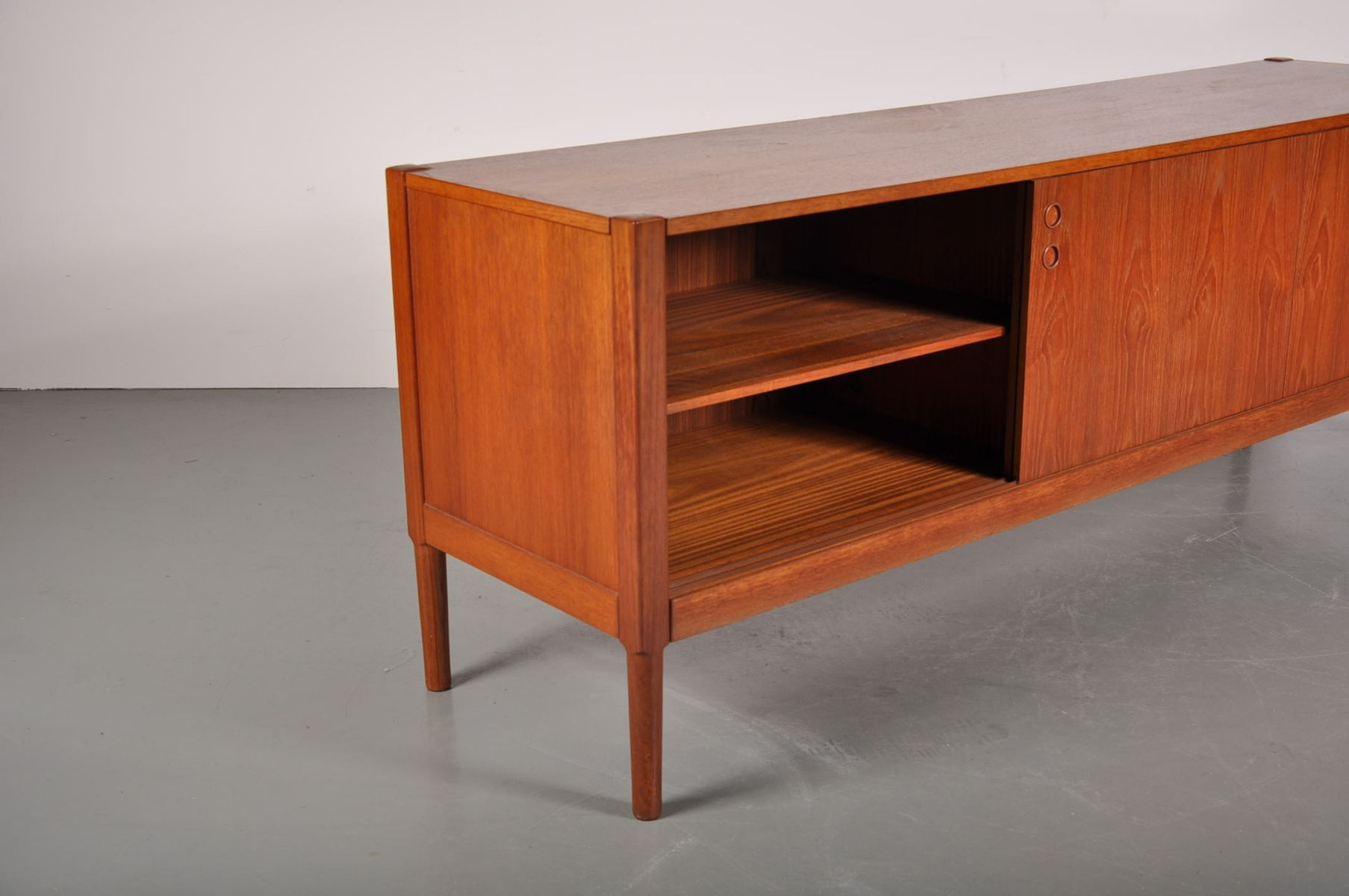 Danish teak sliding door sideboard 1960s for sale at pamono for Sideboard 200 cm