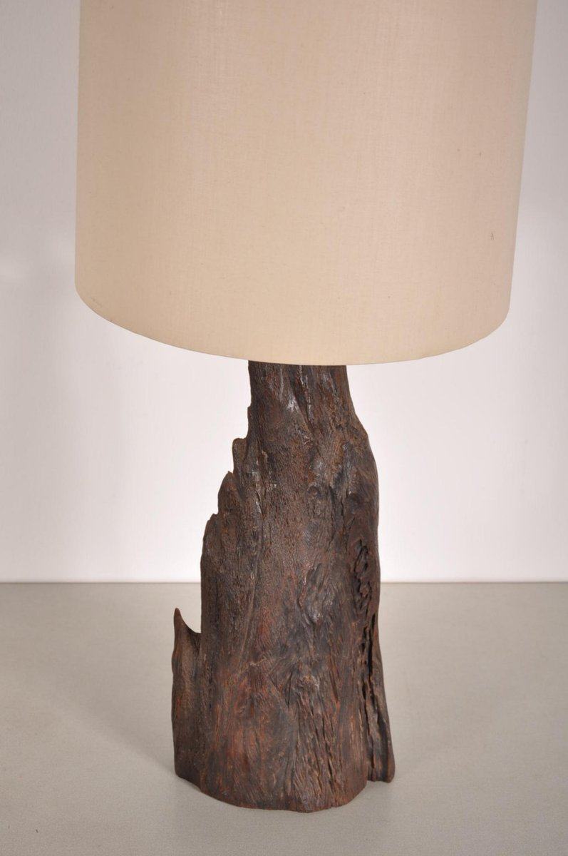 vintage tree trunk table lamp for sale at pamono. Black Bedroom Furniture Sets. Home Design Ideas