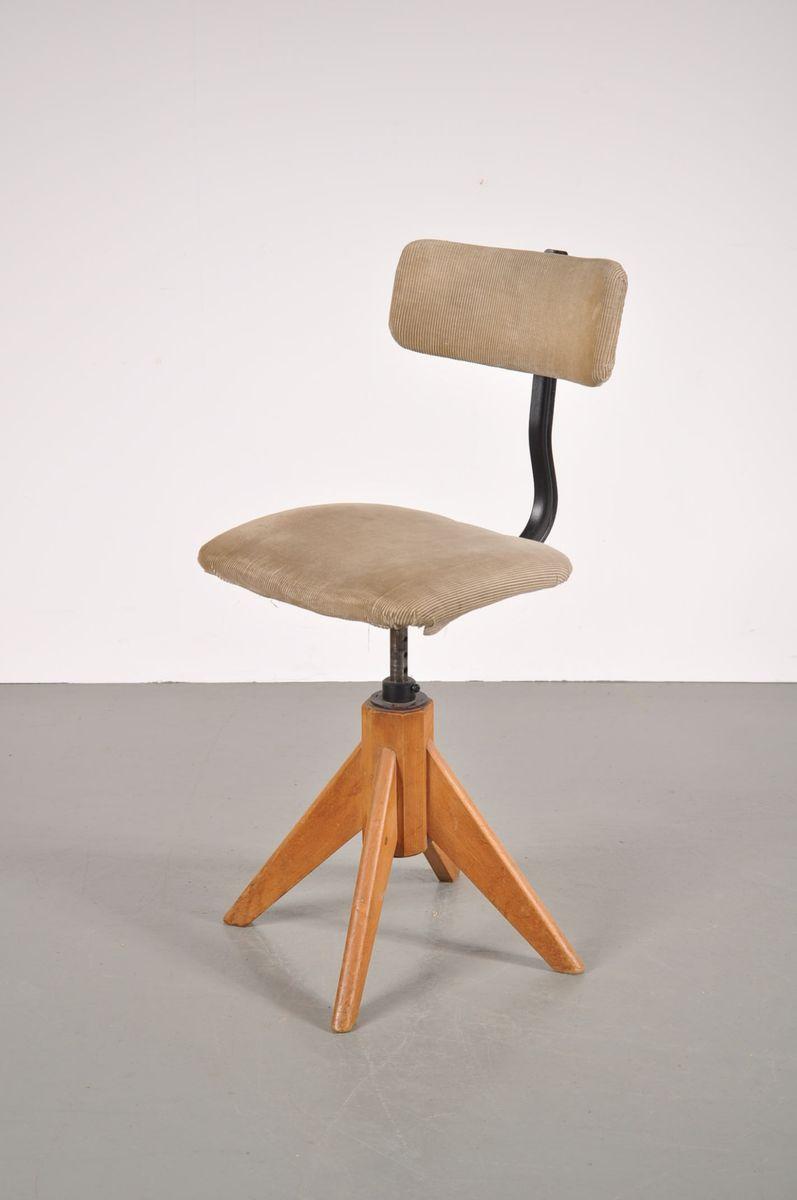 Vintage German Corduroy Desk Chair For Sale At Pamono