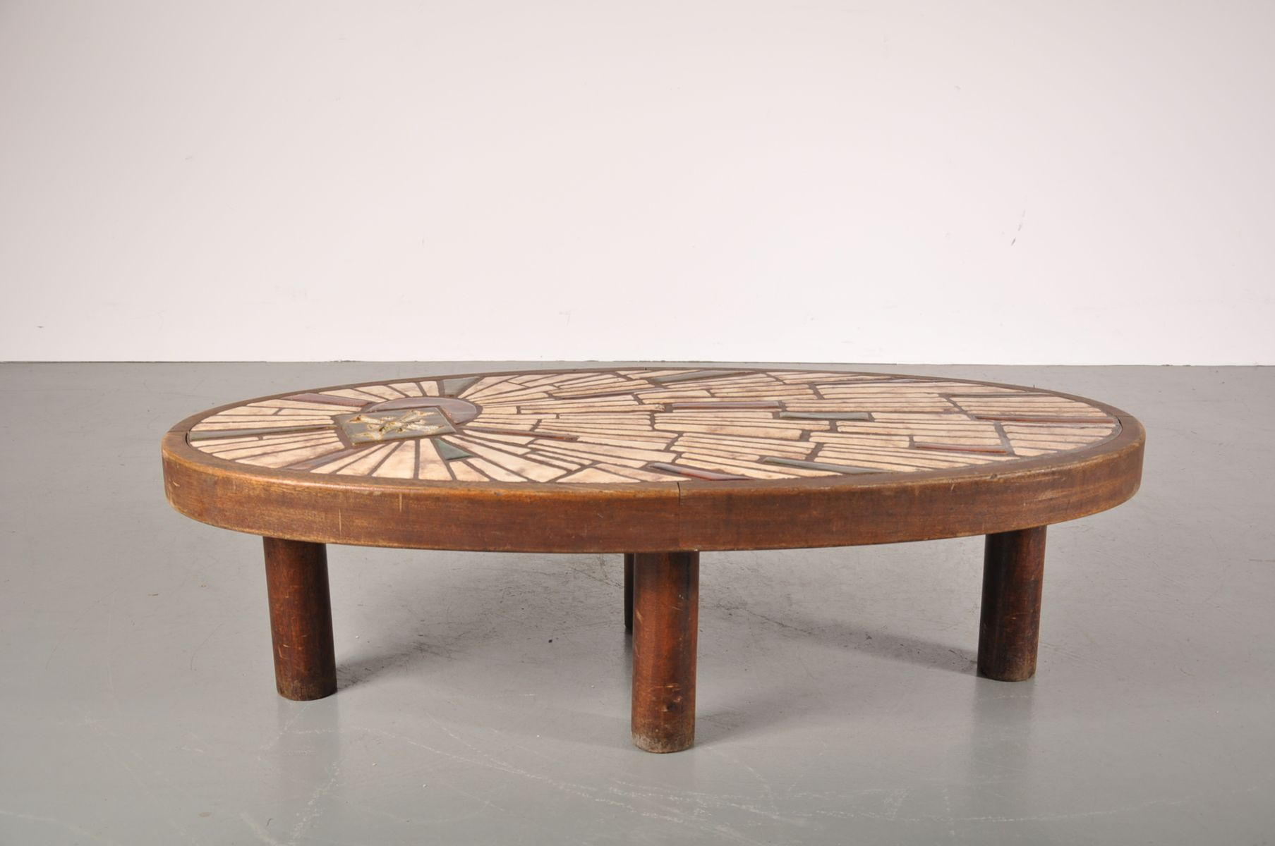 French Oval Ceramic Coffee Table 1950s For Sale At Pamono