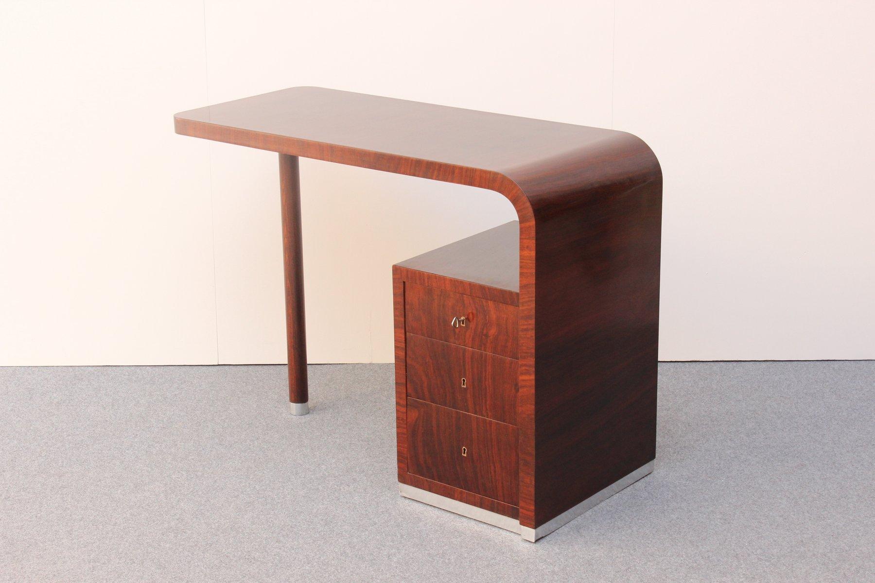antiker italienischer art deco schreibtisch bei pamono kaufen. Black Bedroom Furniture Sets. Home Design Ideas