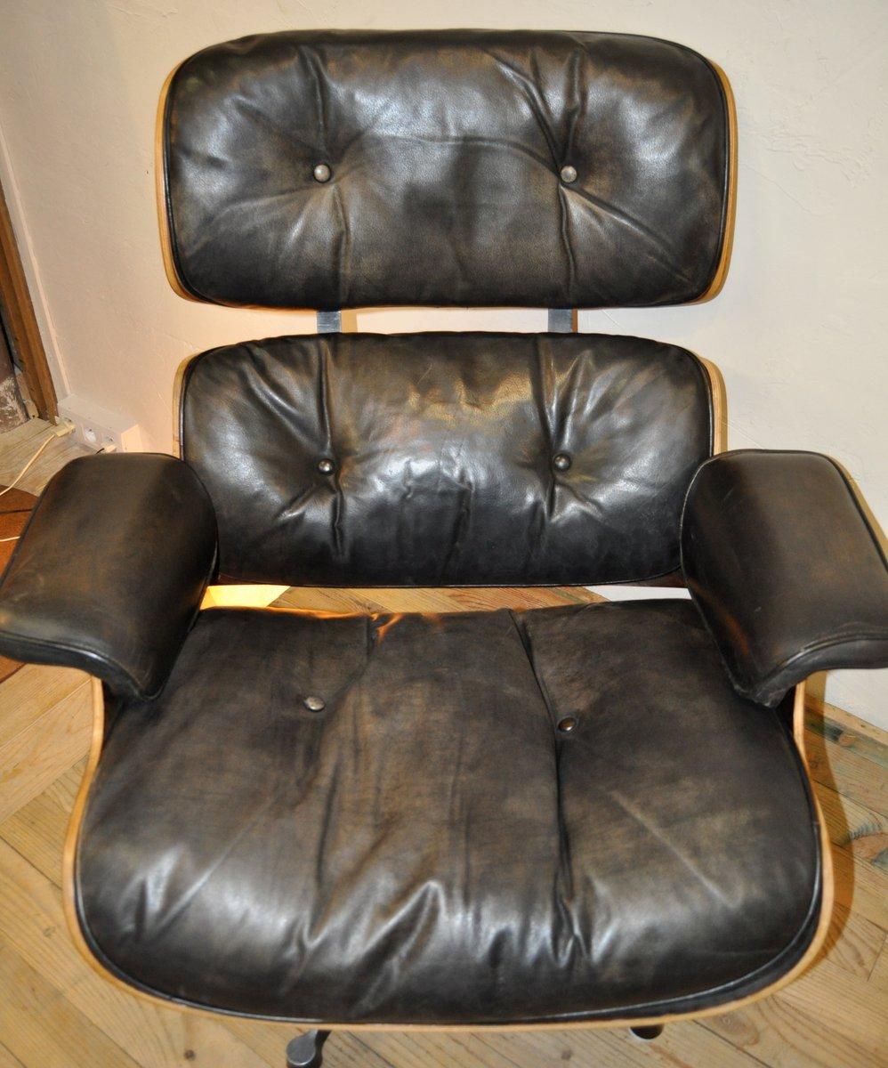 sessel und ottomane von charles ray eames f r herman. Black Bedroom Furniture Sets. Home Design Ideas