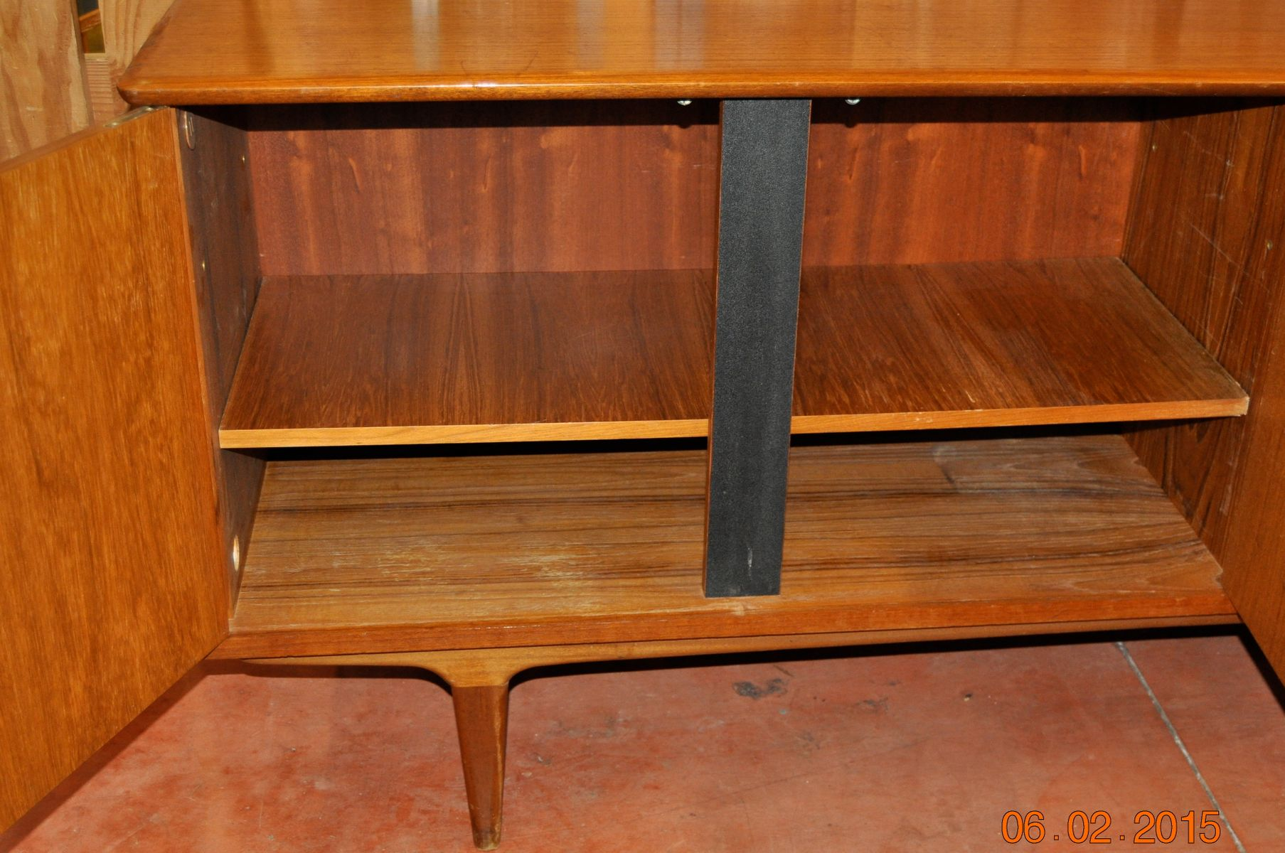 Vintage french teak sideboard 1970s for sale at pamono for Sideboard 220 cm