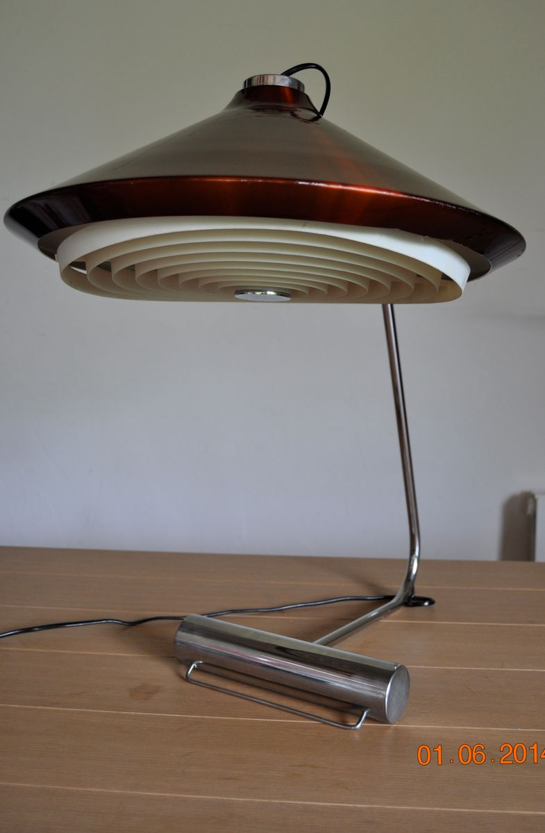 Vintage French Metal Table Lamp For Sale At Pamono