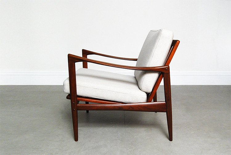 Afromosia Teak Candidate Lounge Chair By Ib Kofod Larsen For Selig 1960 For Sale At Pamono