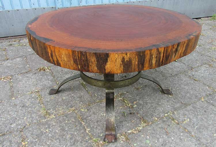 dutch vintage tree trunk coffee table 1960s