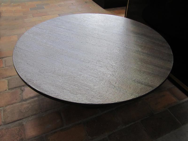 Vintage Round Coffee Table With Stone Top 1960s For Sale At Pamono