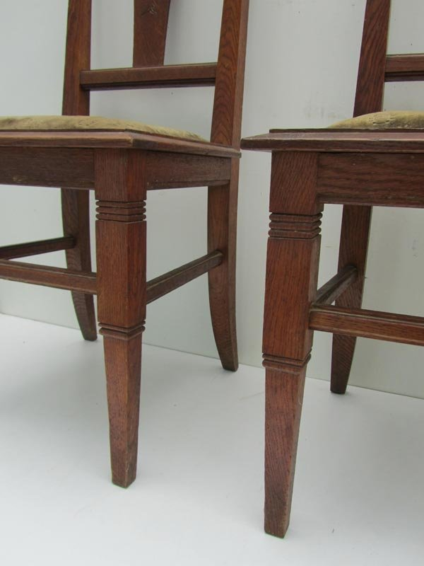 oak dining room set used carved chairs dark nz