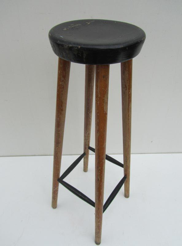 Vintage Wooden Bar Stool for sale at Pamono : vintage wooden bar stool from www.pamono.com size 593 x 800 jpeg 26kB