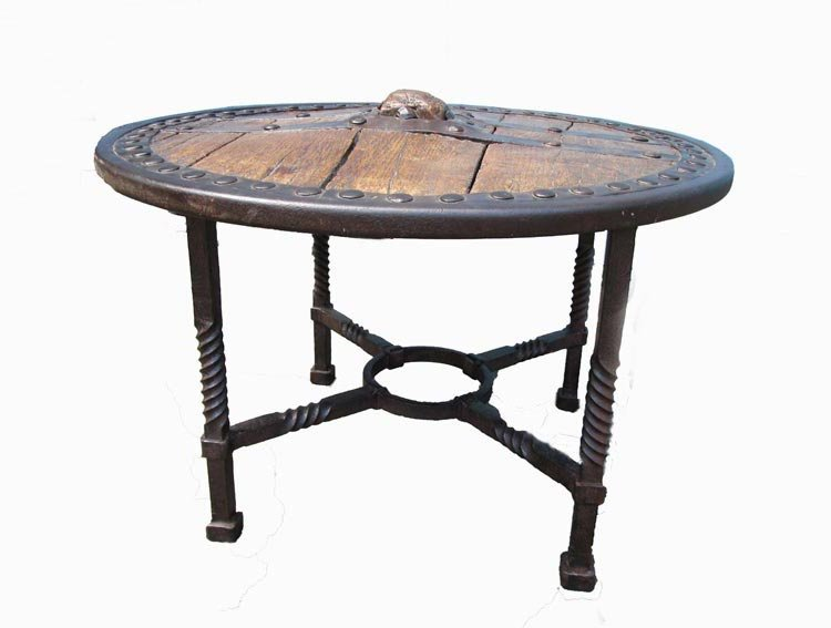 Antique wooden wagon wheel coffee table for sale at pamono Antique wheels for coffee table