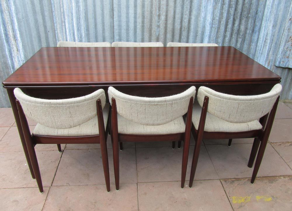 danish rosewood dining set with 6 chairs 1960s for sale at pamono