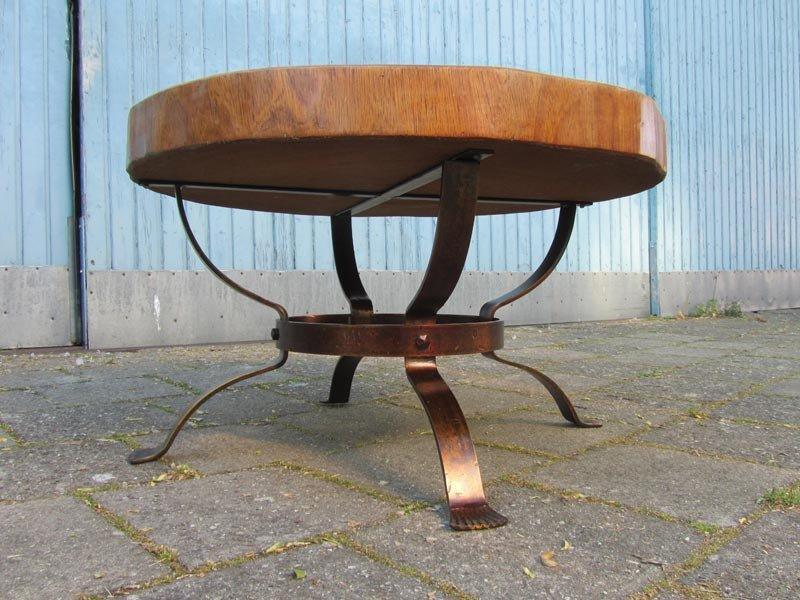 Vintage Holzstamm Couchtisch bei Pamono kaufen