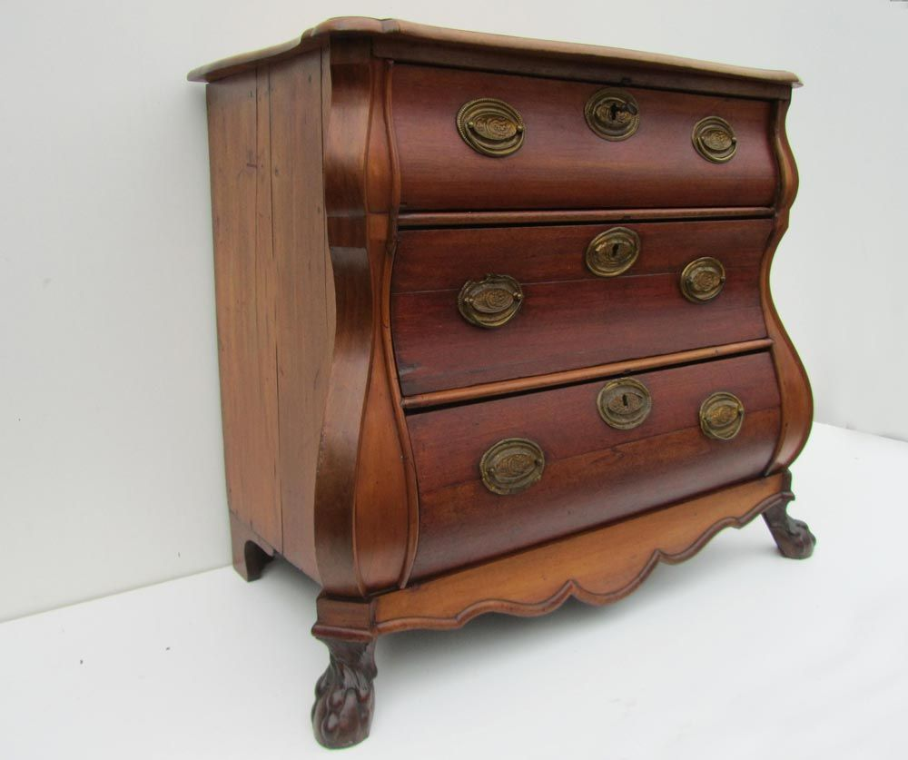 antique dutch baroque commode 1850s for sale at pamono. Black Bedroom Furniture Sets. Home Design Ideas