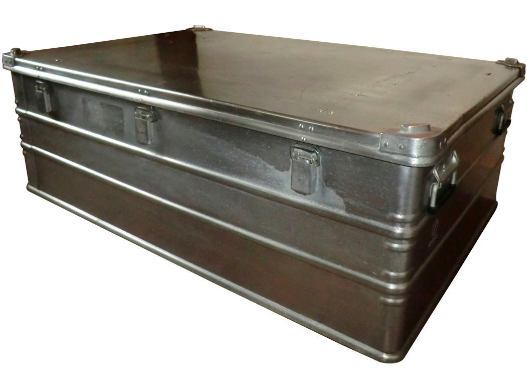 Large Aluminium Trunk Coffee Table For Sale At Pamono