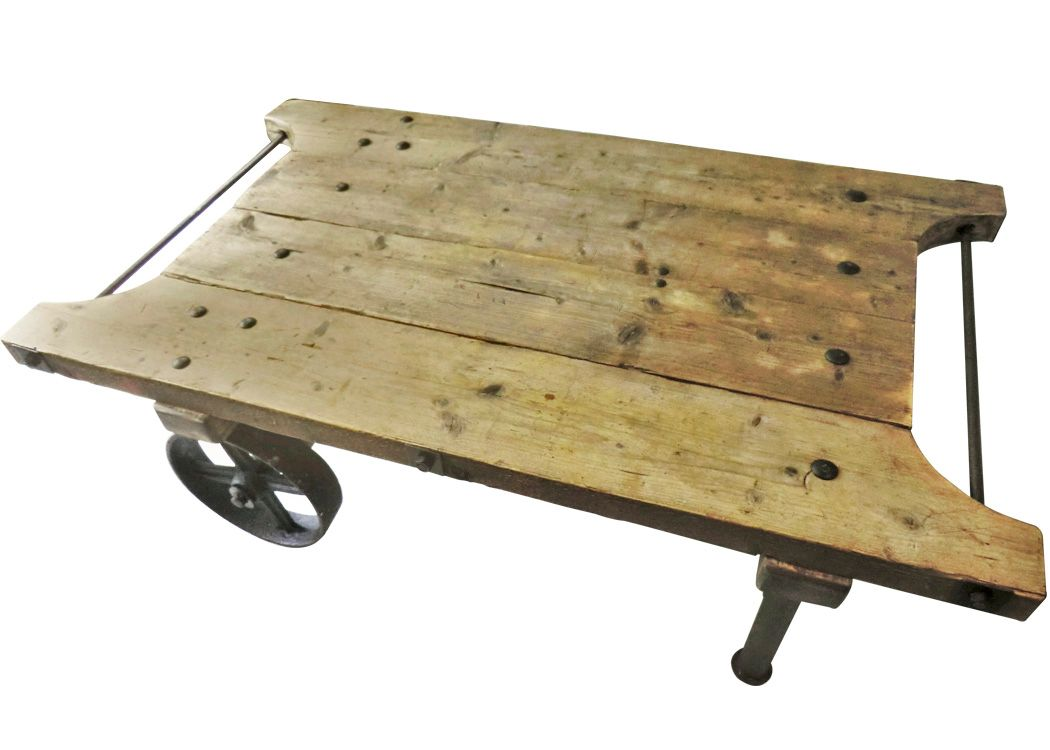 Industrial Trolley Coffee Table For Sale At Pamono