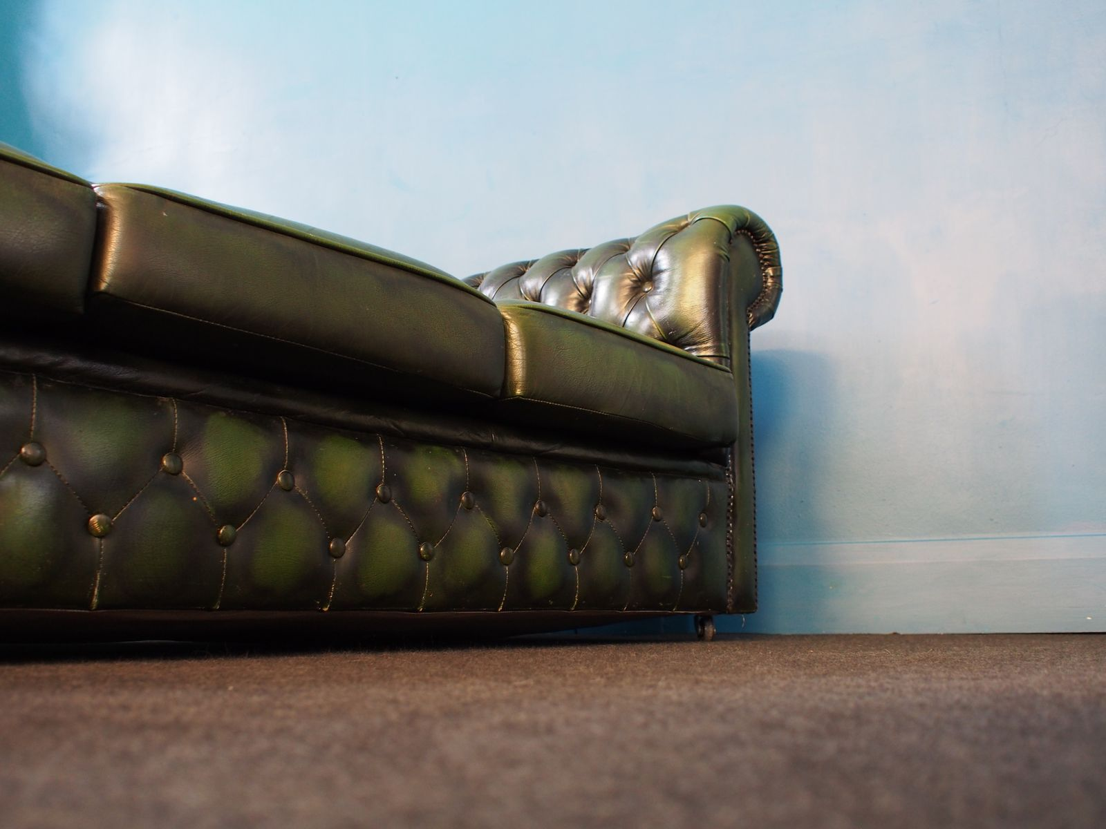 Vintage Green Chesterfield Sofa 1970s For Sale At Pamono