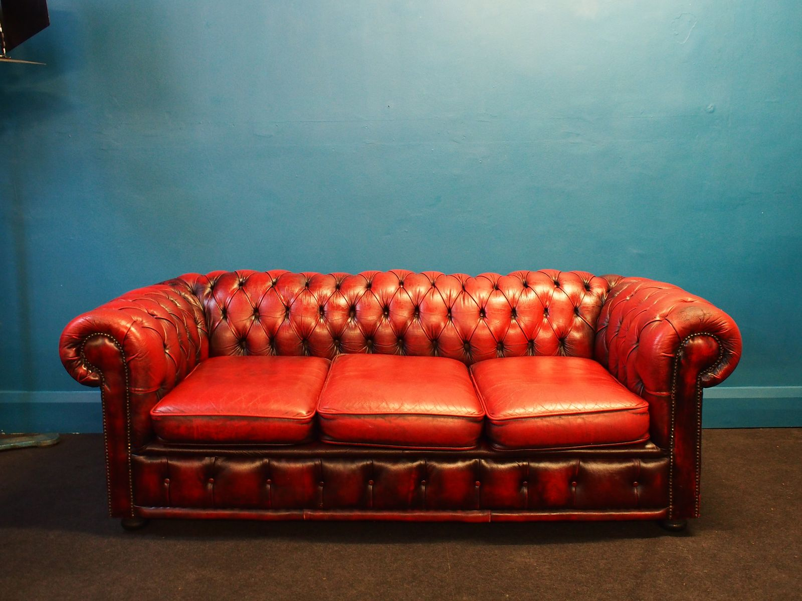 Vintage Oxblood Chesterfield Sofa 1970s For Sale At Pamono