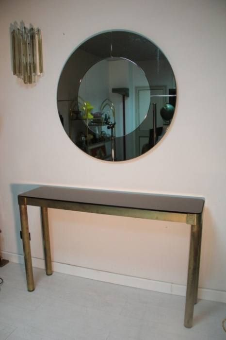 italienische konsole mit spiegel 1970er bei pamono kaufen. Black Bedroom Furniture Sets. Home Design Ideas