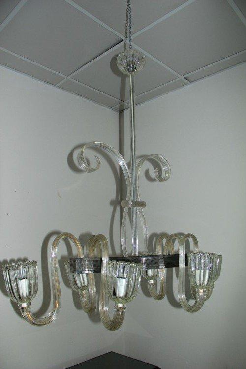 lampadario vintage in vetro di venini anni 39 40 in vendita
