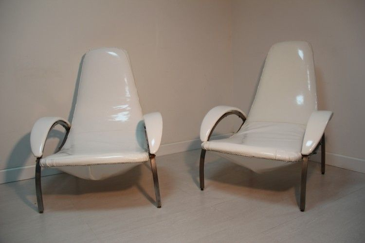 Vintage italian lounge chair 1960s set of 2 for sale at pamono - Vintage lyon lounge ...