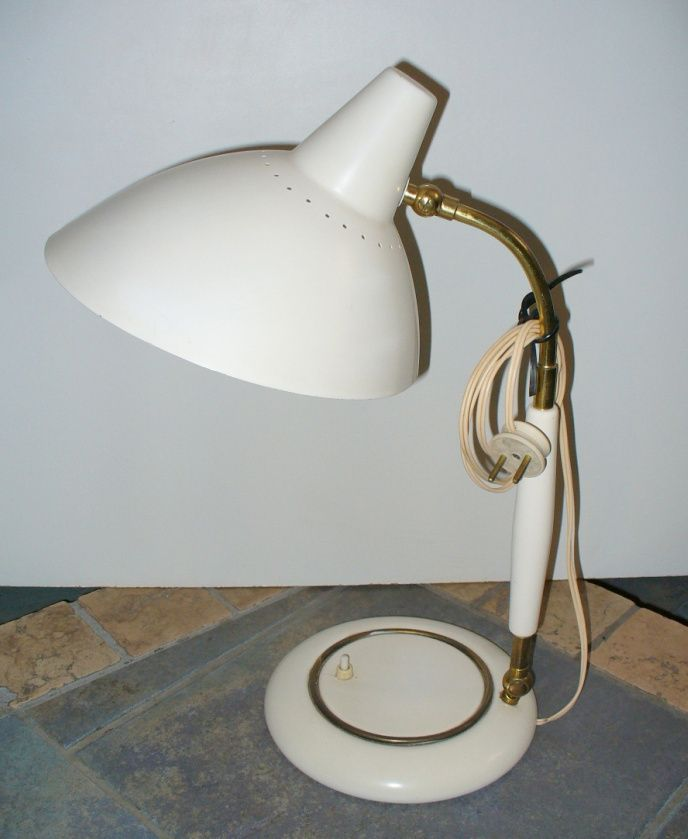 Lampada da tavolo vintage beige italia anni 39 50 in - Lampada da tavolo vintage ...