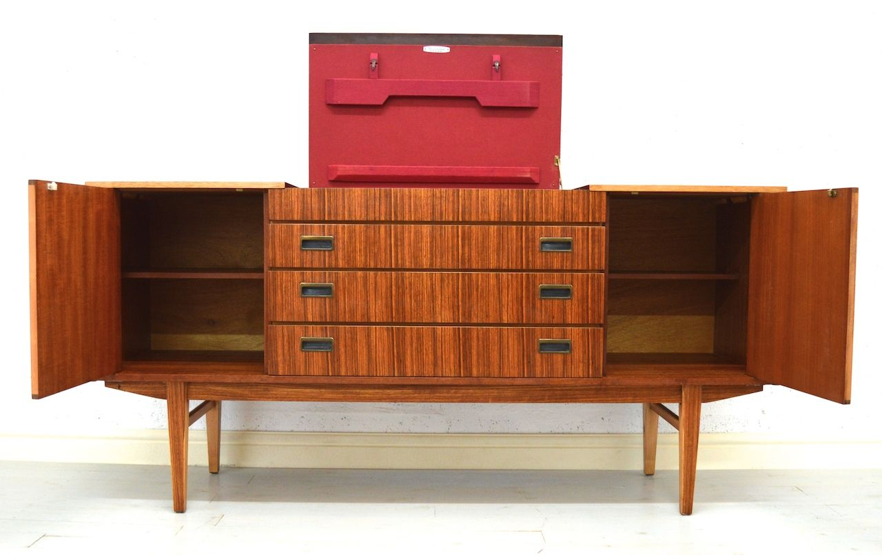 mid century teak sideboard from beautility for sale at pamono. Black Bedroom Furniture Sets. Home Design Ideas