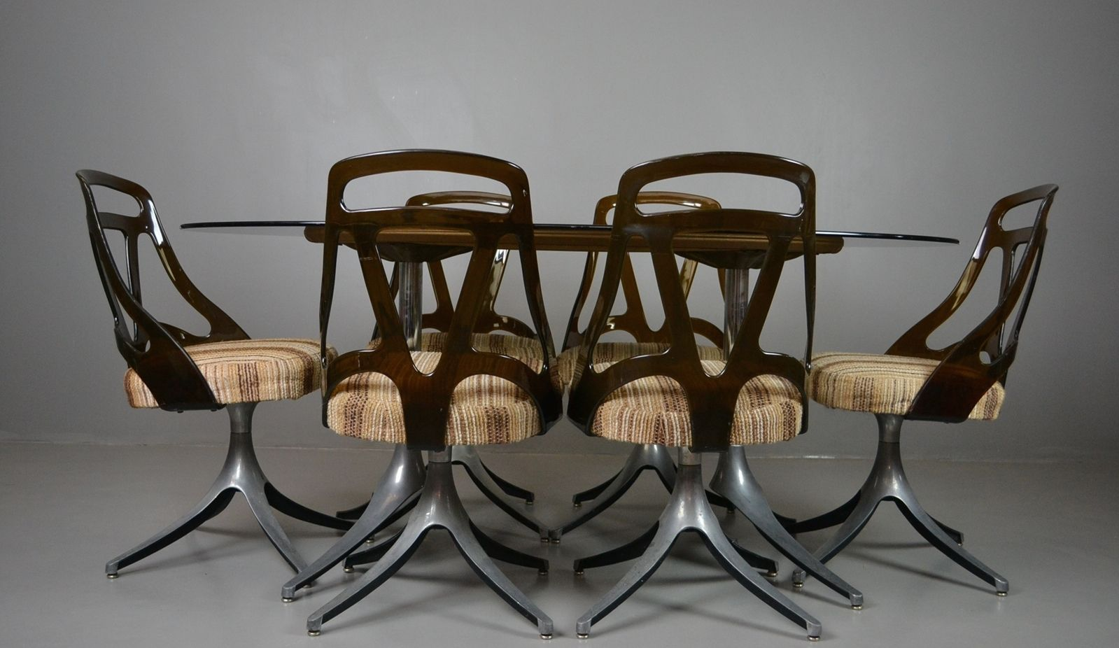 Ovaler glastisch drehst hle set bei pamono kaufen for Ovaler glastisch