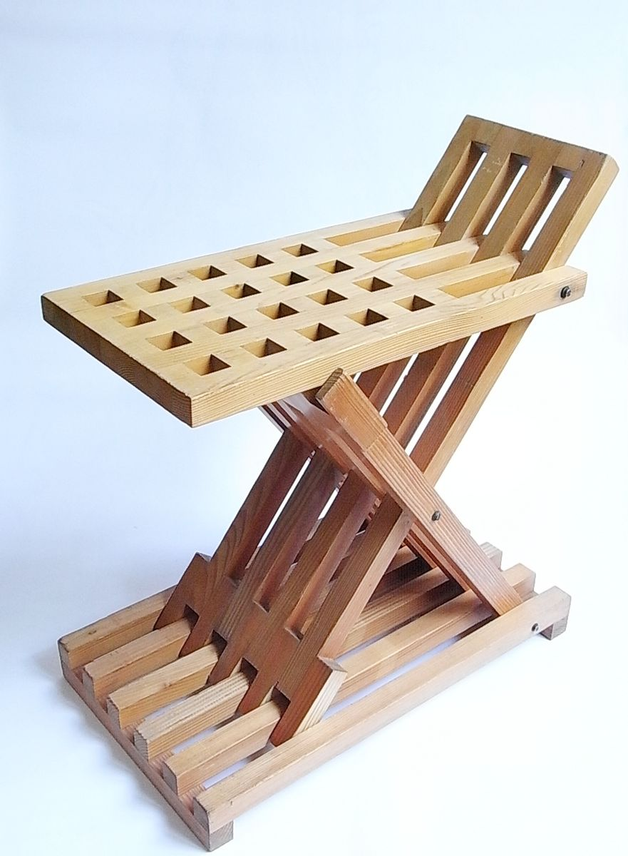 zig zag klapphocker oder tisch von gunther lambert 1970er bei pamono kaufen. Black Bedroom Furniture Sets. Home Design Ideas