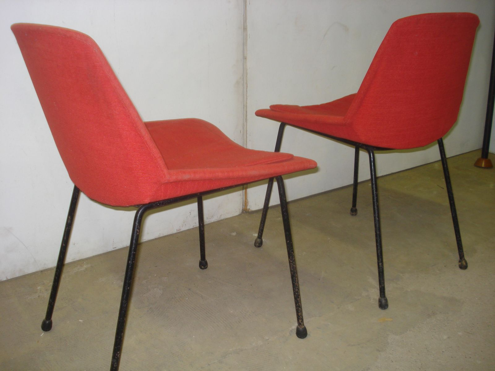 Red Chairs from Saporiti 1950s Set of 2 for sale at Pamono