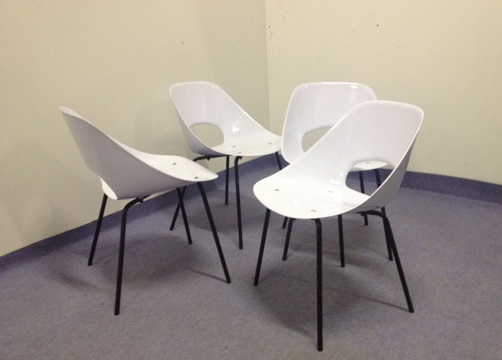 Tulip chairs by pierre guariche for steiner 1955 set of 4 for sale at pamono - Tulip chairs for sale ...