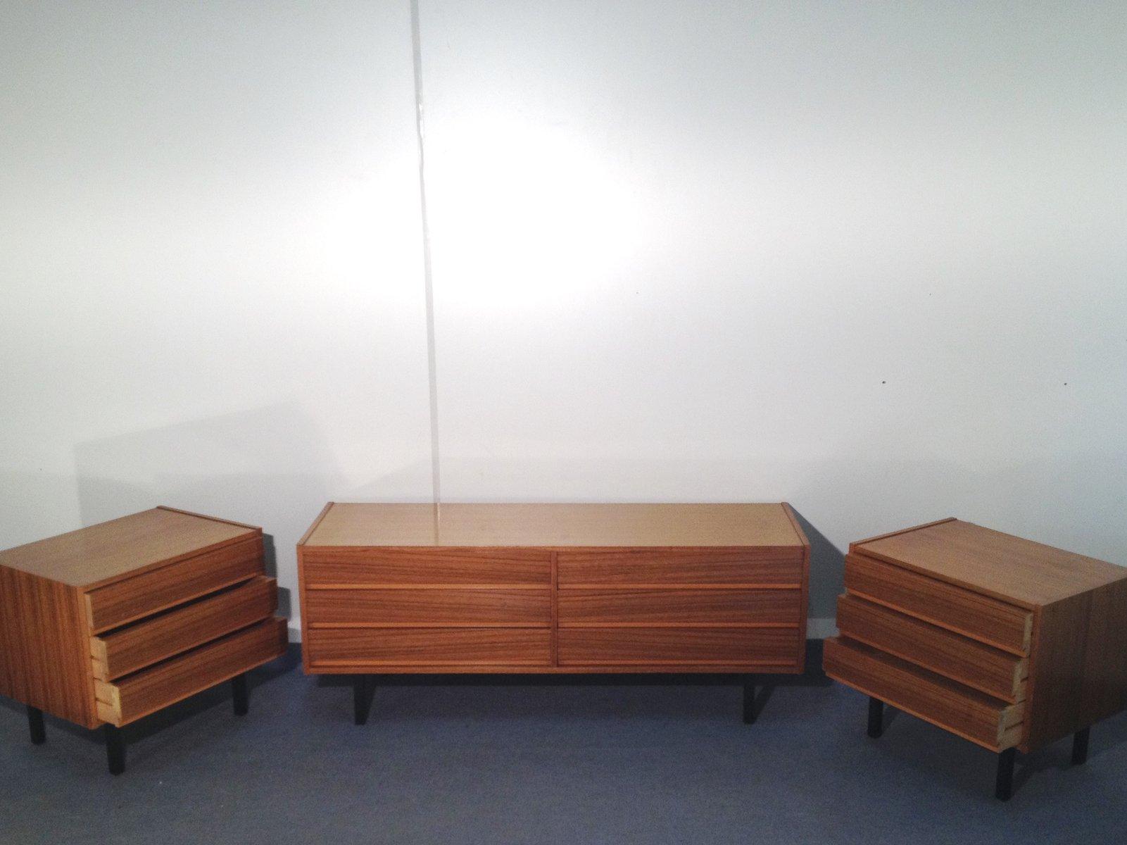 Skandinavisches mahagoni sideboard 3er set bei pamono kaufen for Skandinavisches sideboard