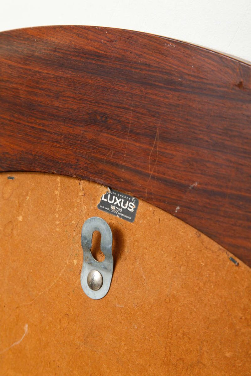circular rosewood mirror by uno sten kristiansson for luxus for sale at pamono - Luxus Raumausstattung Shop