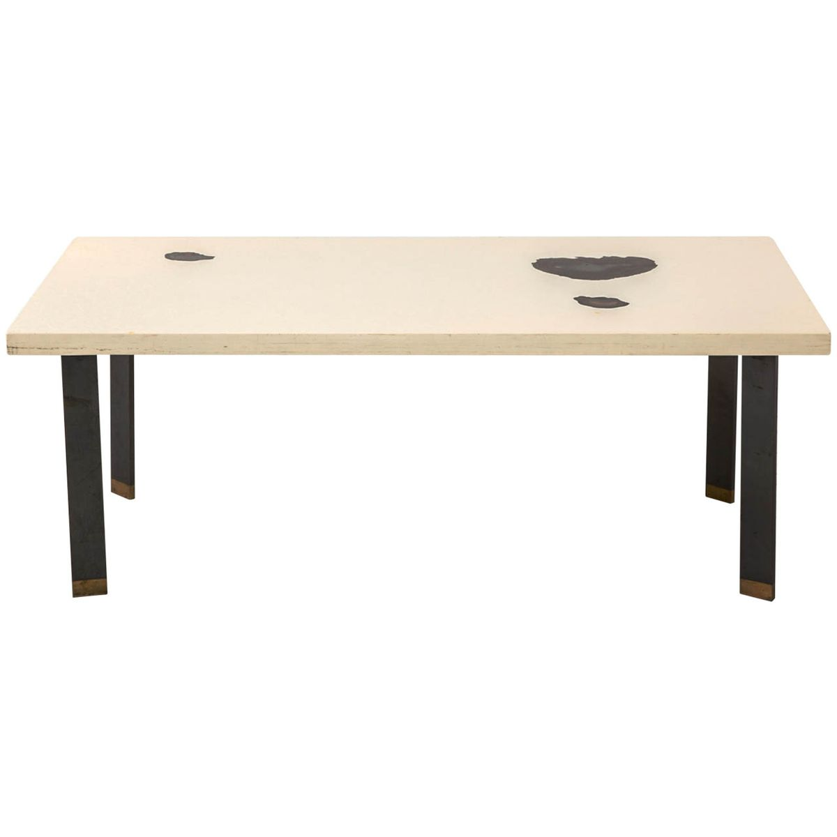 Cream Resin Coffee Table By Philippe Barbier 1959 For Sale At Pamono