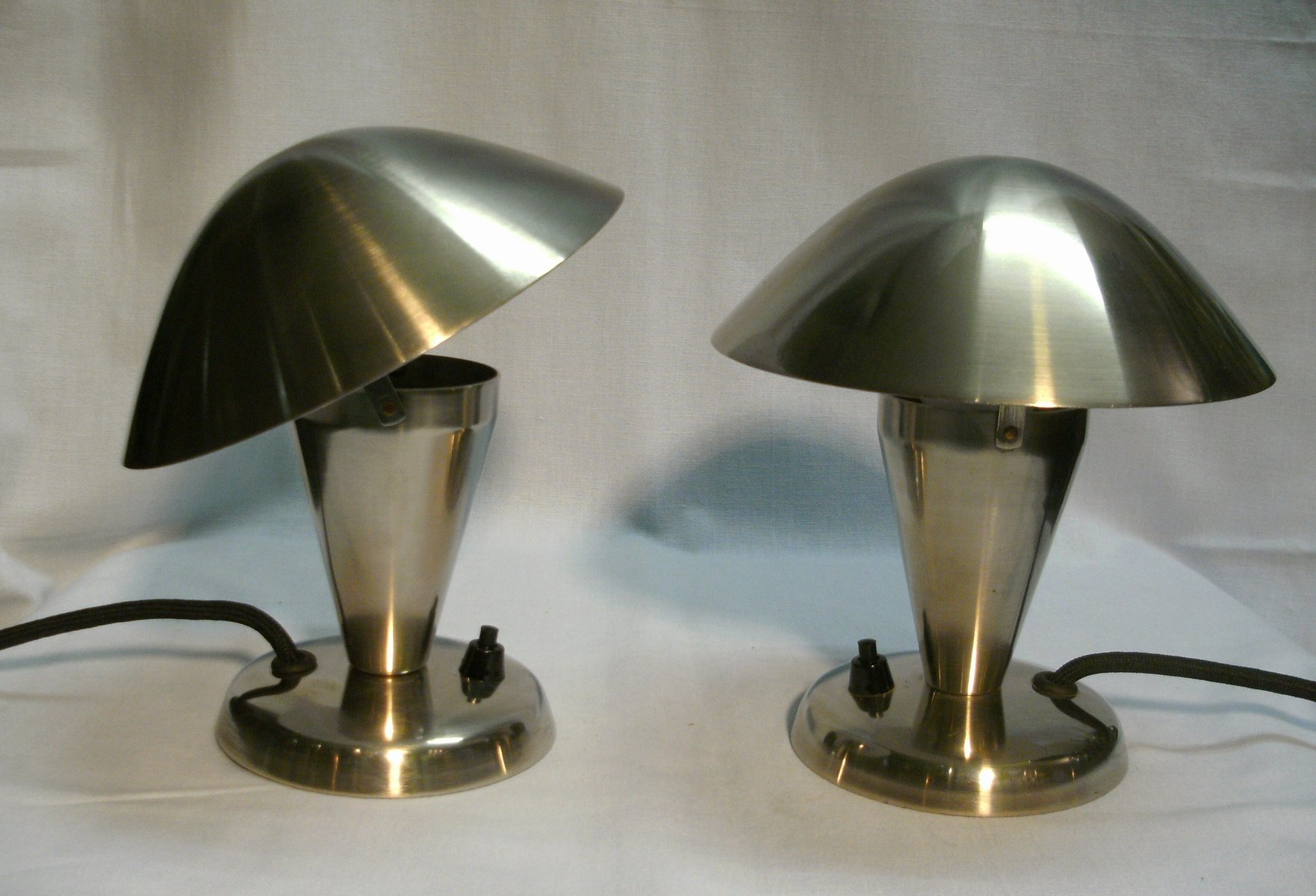 small table lamps from napako 1930s set of 2 for sale at. Black Bedroom Furniture Sets. Home Design Ideas