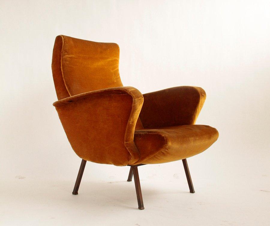 beiger mid century samt sessel bei pamono kaufen. Black Bedroom Furniture Sets. Home Design Ideas