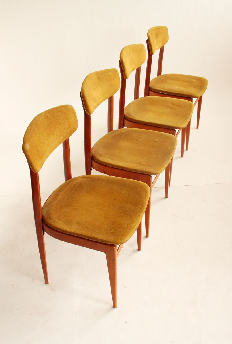 Italian Dining Chairs 1960s Set Of 4 For Sale At Pamono
