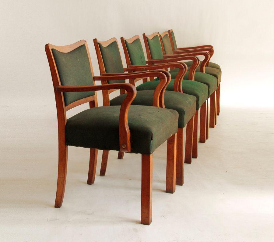 italienische transatlantische esszimmerst hle 6er set bei pamono kaufen. Black Bedroom Furniture Sets. Home Design Ideas