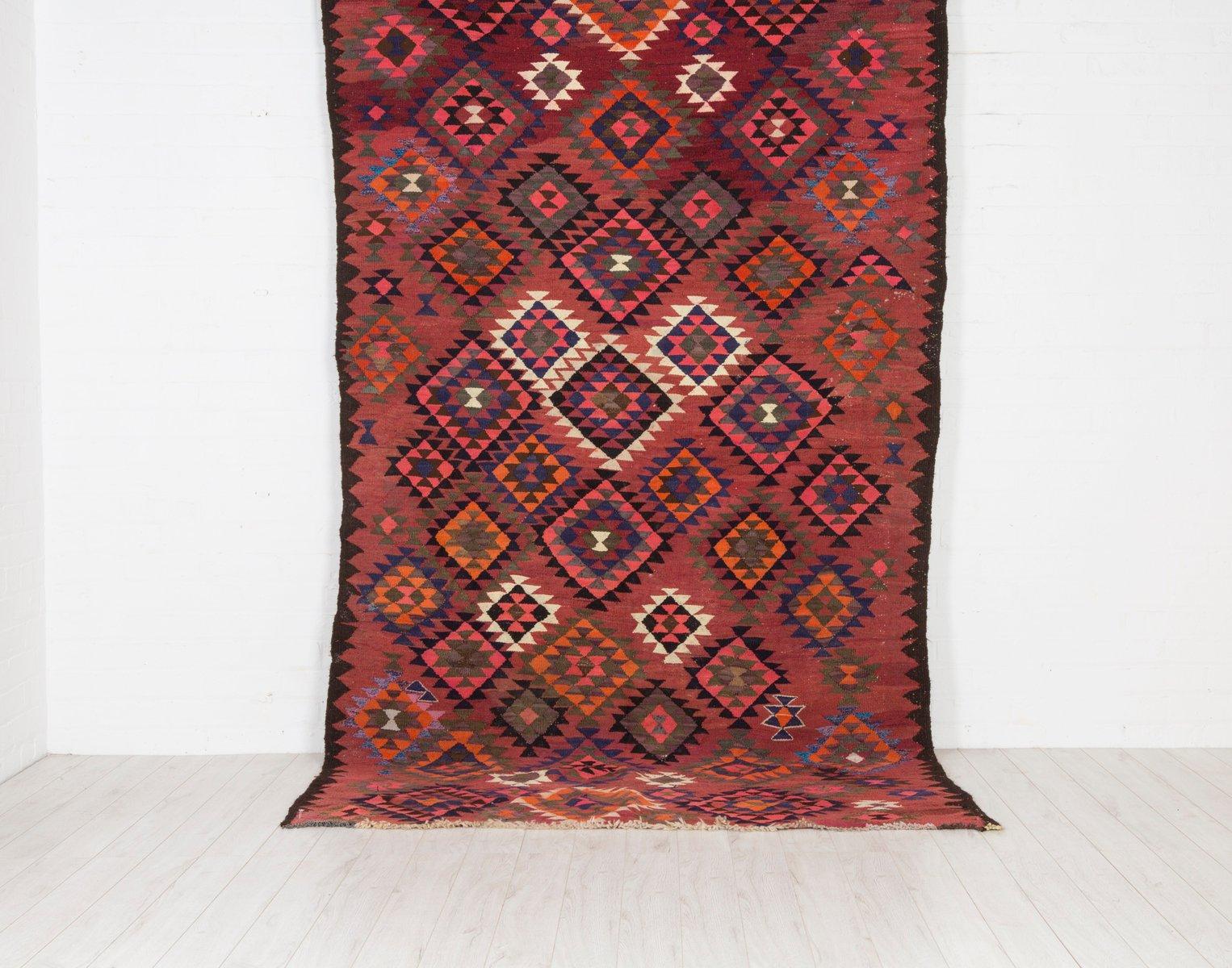 Large Vintage Kilim Rug for sale at Pamono