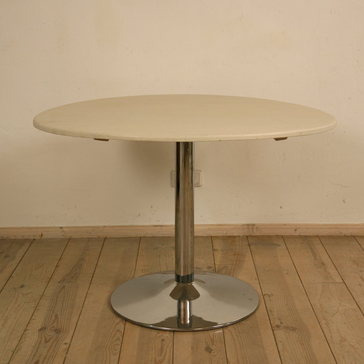 vintage round dining table 1970s for sale at pamono. Black Bedroom Furniture Sets. Home Design Ideas