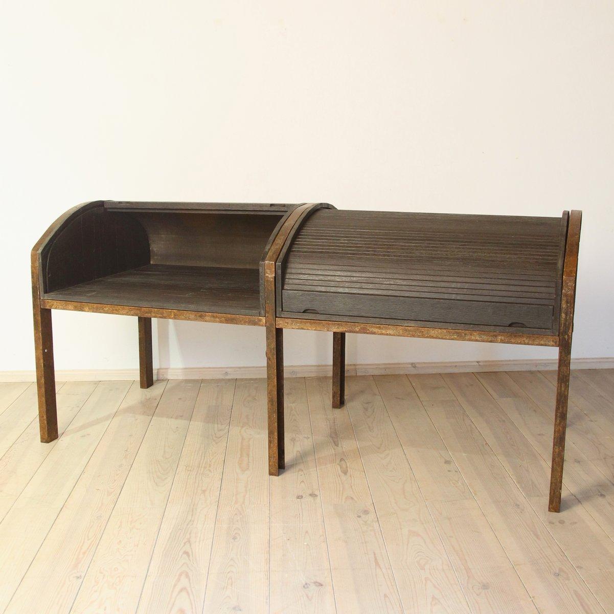 gro er mehrpersonen schreibtisch 1950er bei pamono kaufen. Black Bedroom Furniture Sets. Home Design Ideas