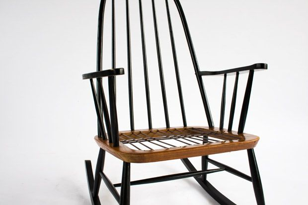 Wooden Rocking Chair from Pastoe for sale at Pamono