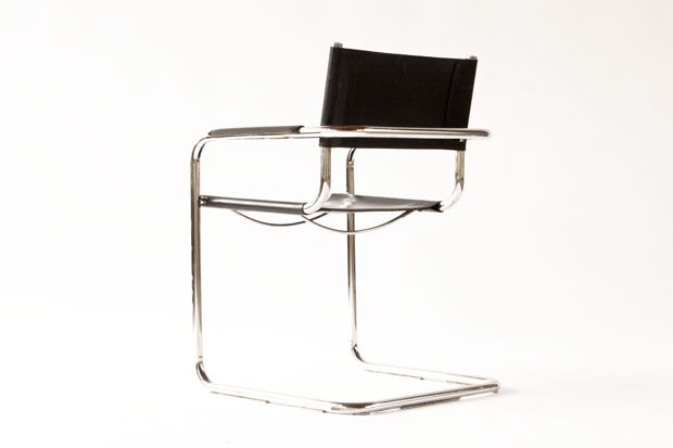 s34 leather chair by mart stam for sale at pamono. Black Bedroom Furniture Sets. Home Design Ideas