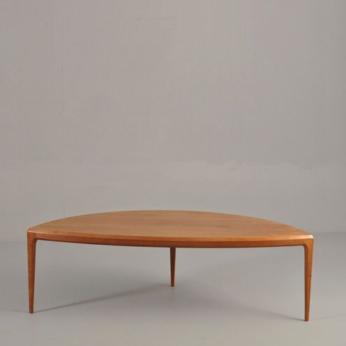 Half moon table by johannes andersen for cfc silkeborg for 1 2 moon table
